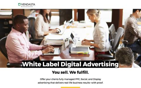 Screenshot of Landing Page vendasta.com - White Label Digital Advertising - captured Sept. 11, 2017