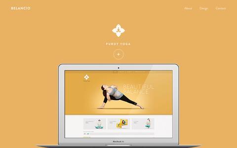 Screenshot of Home Page belancio.com - Belancio – Home - captured Sept. 23, 2014