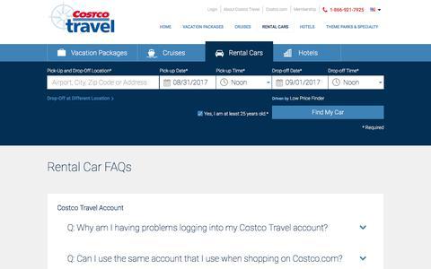 Rental Car FAQs – Costco Travel