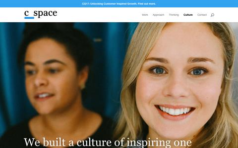 Screenshot of Team Page cspace.com - Culture | C Space - captured May 17, 2018