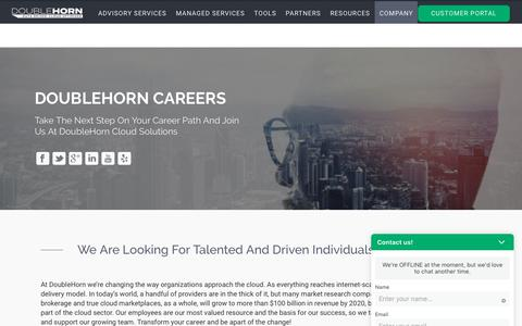 Screenshot of Jobs Page doublehorn.com - Careers at DoubleHorn - Accelerate your Path | DoubleHorn - captured Oct. 9, 2018
