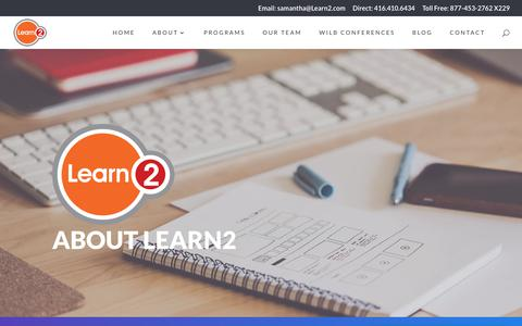 Screenshot of About Page learn2.com - About | Learn2 | - captured Sept. 27, 2018