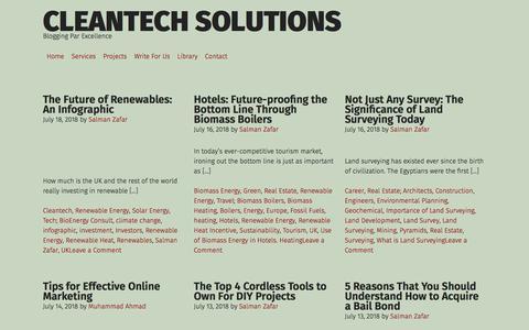 Screenshot of Home Page cleantechloops.com - Blogging Par Excellence - captured July 18, 2018