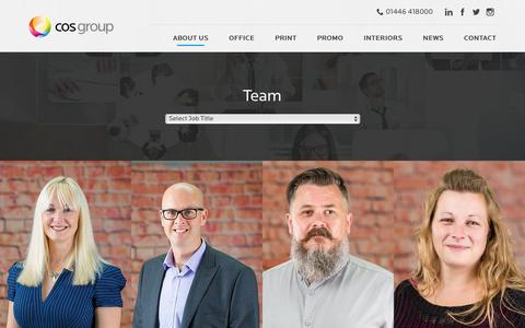 Screenshot of Team Page cosgroup.co.uk - Team - captured May 12, 2017