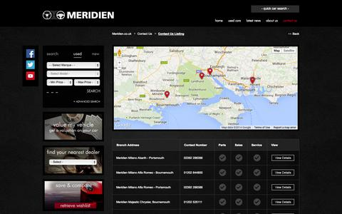 Screenshot of Contact Page meridien.co.uk - Contact Us - Listing - captured Oct. 27, 2014