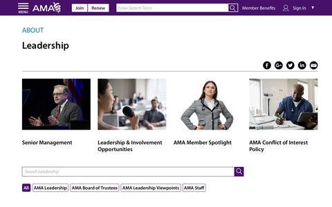 Screenshot of Team Page ama-assn.org - AMA Leadership & Staff | AMA - captured Dec. 18, 2018