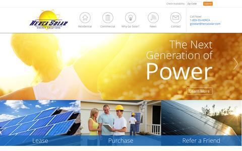 Screenshot of Home Page hercasolar.com - Herca Solar, Inc. - captured Jan. 20, 2015