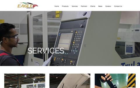 Screenshot of Services Page eagledwc.com - Services   EAGLE Industries - captured July 7, 2017