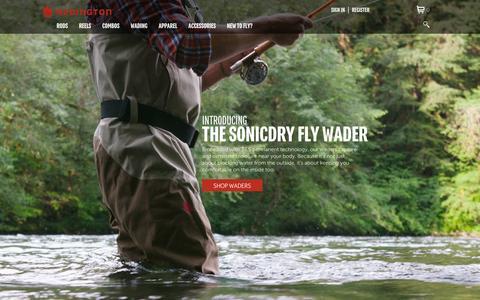 Screenshot of Home Page redington.com - Redington Fly Fishing Waders, Rods, Reels, & Gear - captured Sept. 19, 2014