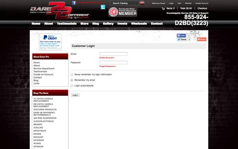 Screenshot of Login Page d2bdmotorwerks.com - Login - captured Oct. 4, 2014