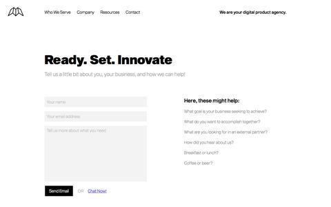 Screenshot of Contact Page innovatemap.com - Contact   Innovatemap - captured Oct. 10, 2019