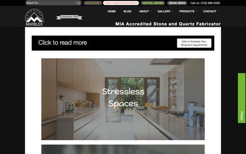 Screenshot of Blog marblexinc.com - Click to read more | Marblex Design International - captured Nov. 15, 2018