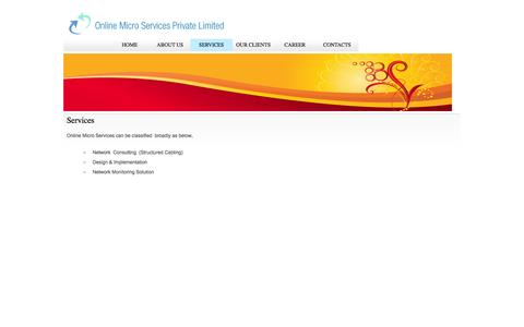 Screenshot of Services Page onlinemicro.net - Online Micro Services - captured Oct. 7, 2014