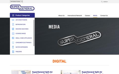 Screenshot of Press Page supergeneral.com - Media Archive - Super General - captured Oct. 18, 2018