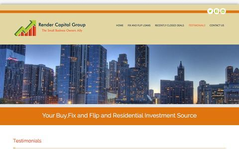 Screenshot of Testimonials Page rendercapitalgroup.com - Testimonials - Render Capital Group - captured Aug. 16, 2016