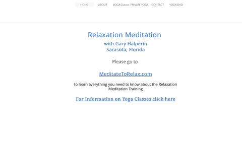 Screenshot of Home Page feelbetternowyoga.com - Meditation and Yoga with Gary Halperin - captured Oct. 30, 2018
