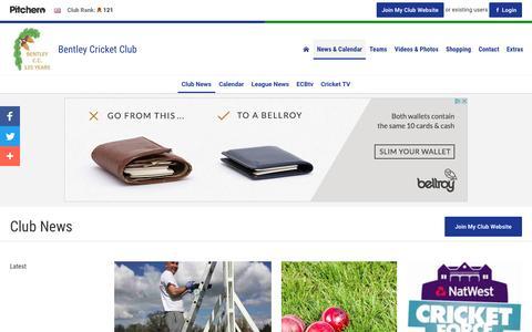 Screenshot of Press Page pitchero.com - News - Bentley Cricket Club - captured April 7, 2017