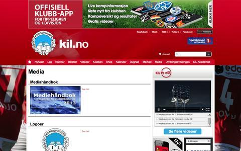 Screenshot of Press Page kil.no - Media  | Kongsvinger - captured Oct. 6, 2014