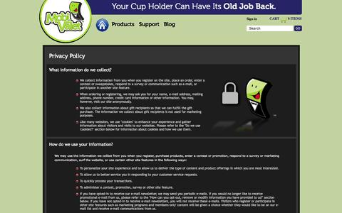 Screenshot of Privacy Page mobivalet.com - Terms: Privacy - captured Oct. 7, 2014