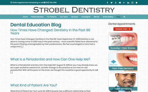 Screenshot of Blog strobeldentistry.com - Dental Education Blog | Strobel Dentistry - captured Oct. 20, 2018