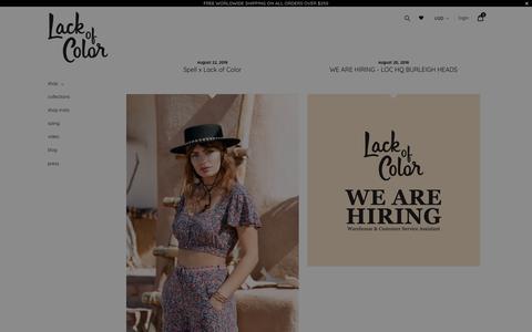 Screenshot of Blog lackofcolor.com - lack of color                      – Lack of Color - captured Oct. 24, 2018