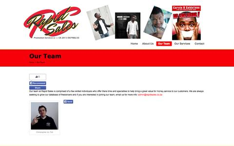 Screenshot of Team Page rapidsales.co.za - Our Team | Rapid Sales Promotion Services - captured Oct. 7, 2014