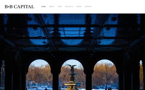 Screenshot of Home Page b-bcapital.com - B+B CAPITAL - WE INVEST IN NEW YORK - captured Oct. 2, 2014