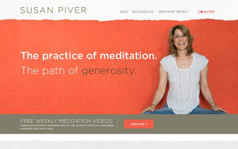 Screenshot of Home Page susanpiver.com - Home - Susan Piver : Susan Piver - captured Sept. 30, 2015