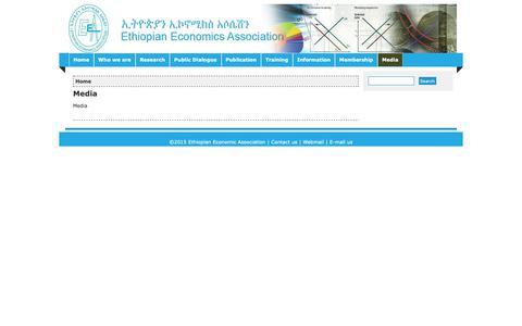 Screenshot of Press Page eeaecon.org - Media | Ethiopian Economic Association - captured Sept. 29, 2018