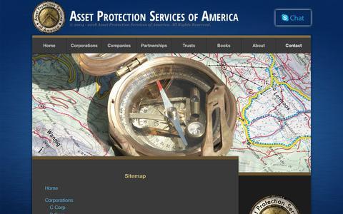Screenshot of Site Map Page assetprotectionservices.com - Sitemap | Asset Protection Services of America - captured Nov. 2, 2018