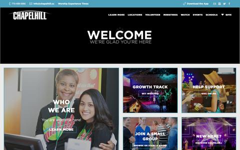 Screenshot of Home Page chapelhill.cc - Welcome to Chapelhill! - captured Feb. 15, 2016