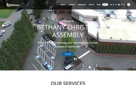 Screenshot of Home Page bcachurch.com - Bethany Christian Assembly Church | Everett, Washington - captured Oct. 5, 2018