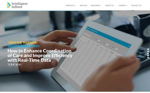 Screenshot of Home Page intelligentinsites.com - Intelligent InSites: RTLS - captured Dec. 4, 2015