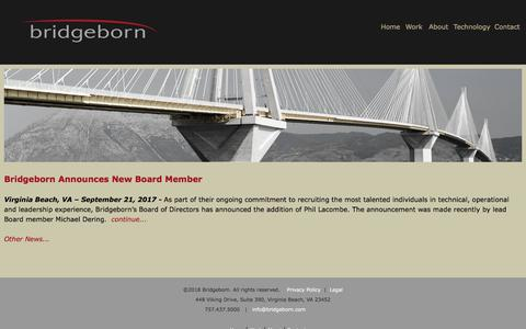 Screenshot of Press Page bridgeborn.com - News1 | Bridgeborn, Inc - captured Aug. 3, 2018