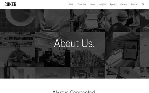 Screenshot of About Page cukeragency.com - About Our San Diego Digital Agency | Cuker - captured Dec. 26, 2016