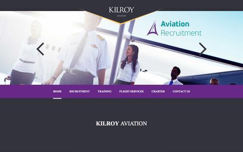 Screenshot of Home Page kilroy.aero - Kilroy | AVIATION - captured Nov. 27, 2016