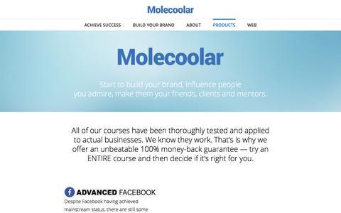 Screenshot of Products Page molecoolar.com - Products - Molecoolar - captured Nov. 16, 2017