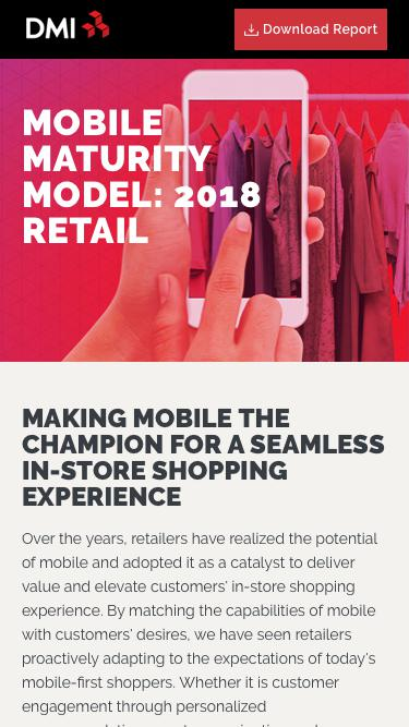 Mobile Maturity Model: 2018 Retail - Home