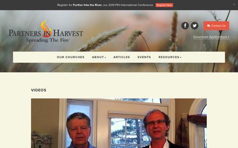 Screenshot of Press Page partnersinharvest.org - Media - Partners In Harvest - captured Sept. 29, 2014