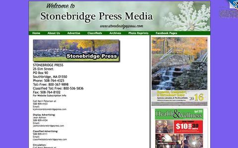 Screenshot of About Page winchendoncourier.com - Contact Us - captured March 12, 2016