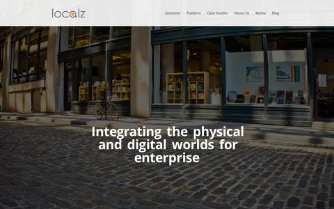 Screenshot of Home Page localz.com - Localz | Micro-location For Enterpise - captured June 16, 2015