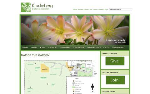 Screenshot of Maps & Directions Page kruckeberg.org - Garden Maps - captured Oct. 6, 2014
