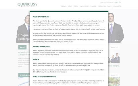 Screenshot of Home Page quercus-partners.com - Quercus Investment Partners - captured Feb. 2, 2016