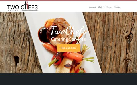 Screenshot of Home Page twochefs.co.za - TwoChefs - Home - captured Sept. 2, 2015