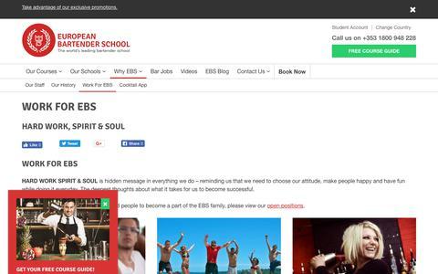 Screenshot of Jobs Page bartenderschool.ie - Working at EBS - European Bartender School - captured Oct. 27, 2018