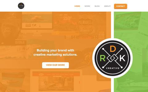 Screenshot of Home Page drkcreative.com - DRK Creative - captured June 3, 2017