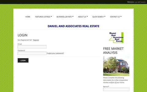 Screenshot of Login Page daare.com - User Login | Real Estate West Chicago, serving DuPage County and Kane County - captured Feb. 8, 2016
