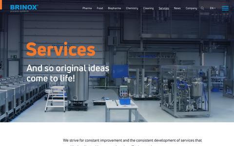 Screenshot of Services Page brinox.eu - Services | Brinox - captured Nov. 13, 2018