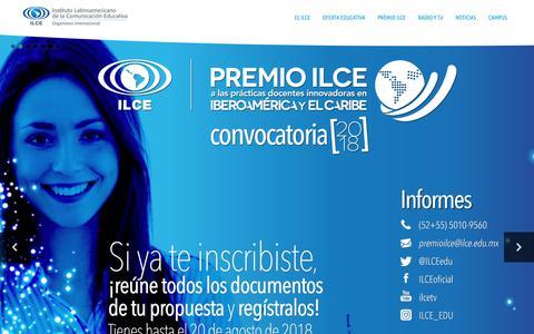 Screenshot of Home Page ilce.edu.mx - ilce.edu.mx - captured Aug. 18, 2018