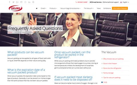 Screenshot of FAQ Page orved.it - • Vacuum Packing Experts - FAQ Answered | Orved - captured Jan. 15, 2017
